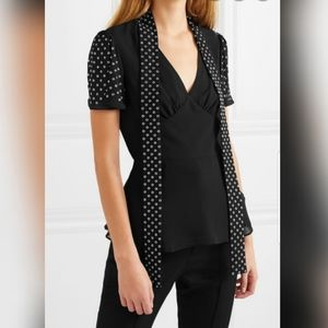 Michael Kors Pussy-bow embellished Georgette top